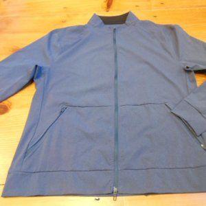 LULULEMON XL Blue Light Zip Up Jacket Mock Neck
